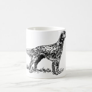 english setter drawing.png coffee mug