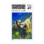 ENGLISH SETTER FIELD DOGS POINT LLEWELLIN ~ STAMPS