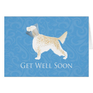 English Setter Get Well Soon Dog Silhouette Card