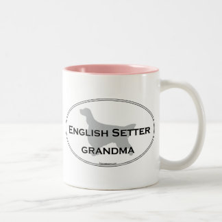 English Setter Grandma Two-Tone Coffee Mug