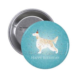 English Setter Happy Birthday Design Button