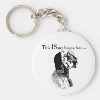 English Setter Happy Face Keychain