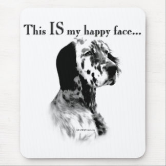 English Setter Happy Face Mouse Pad