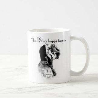 English Setter Happy Face Mugs