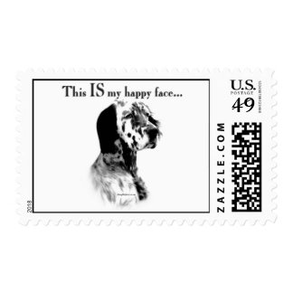 English Setter Happy Face Stamps