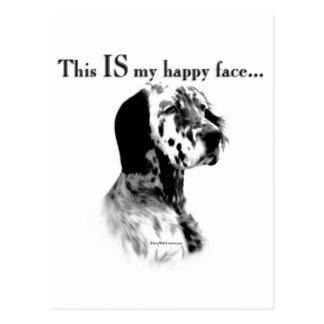 English Setter Happy Face Postcard