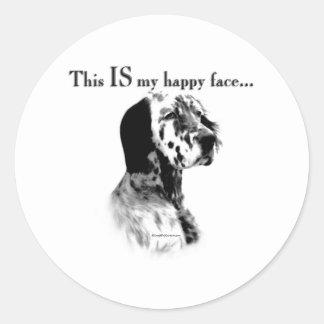 English Setter Happy Face - Sticker