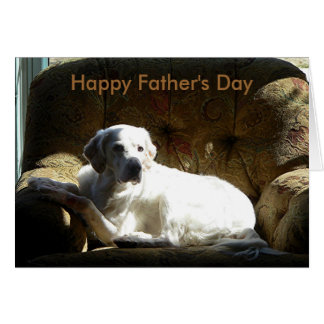 English Setter, Happy Father's Day Card