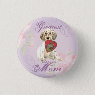 English Setter Heart Mom Pinback Button