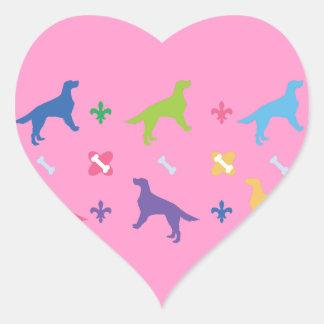 English Setter Heart Sticker