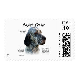 English Setter History Design Stamps