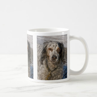 English Setter in Snow 3 Coffee Mug