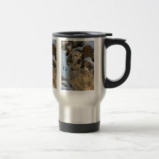 English Setter in Snow Travel Mug
