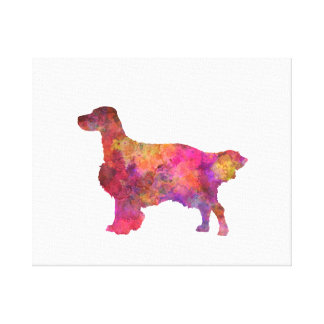 English Setter in watercolor Canvas Print