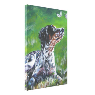 english setter llewellin Art on Stretched Canvas