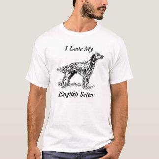 english setter love T-Shirt