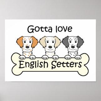 English Setter Lover Poster