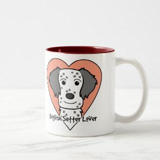 English Setter Lover Two-Tone Coffee Mug
