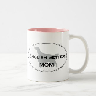 English Setter Mom Two-Tone Coffee Mug