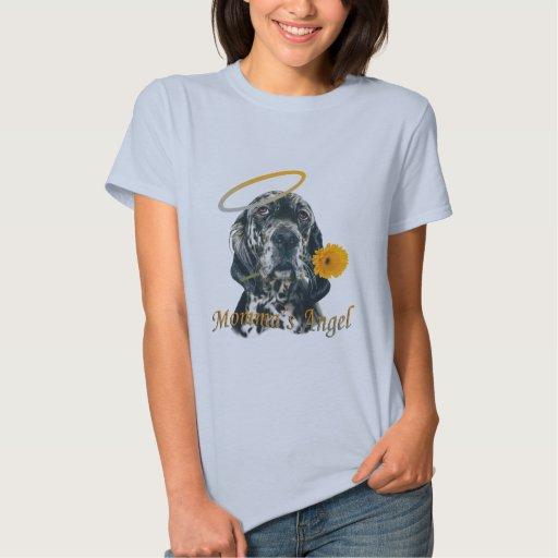 English Setter Momma's Angel shirts