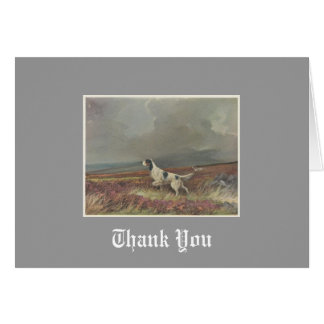 English Setter On Moorland Thank You Note Cards