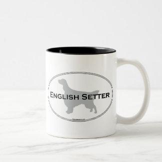 English Setter Oval Mugs