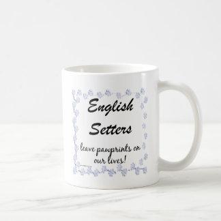 English Setter Pawprints Coffee Mug