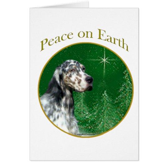 English Setter Peace Card