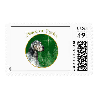 English Setter Peace Postage Stamps