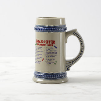 ENGLISH SETTER Property Laws 2 Mugs