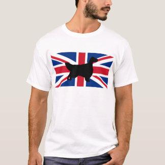 english setter silhouette flag T-Shirt