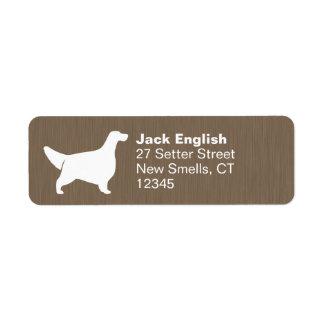 English Setter Silhouette Label