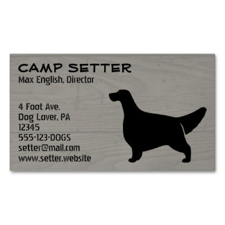 English Setter Silhouette Magnetic Business Card