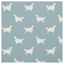English Setter Silhouettes Pattern Fabric