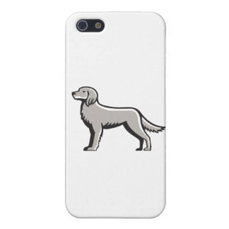 English Setter Standing Side View Retro iPhone SE/5/5s Case