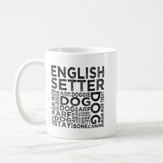 English Setter Typography Coffee Mug