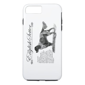 English Setter Vintage Storybook Style iPhone 8 Plus/7 Plus Case