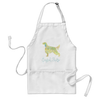 English Setter Watercolor Adult Apron