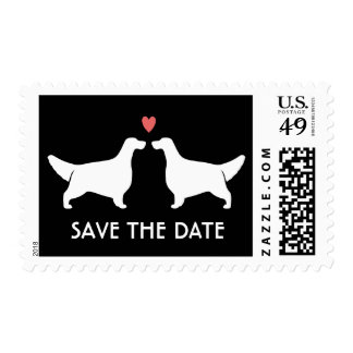 English Setters Wedding Save the Date Postage
