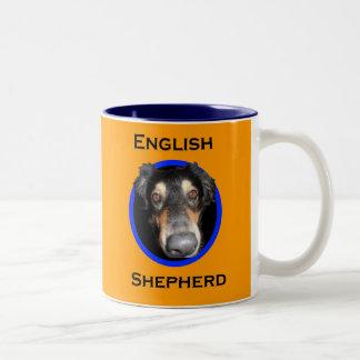 English Shepherd Big Nose Two-Tone Coffee Mug