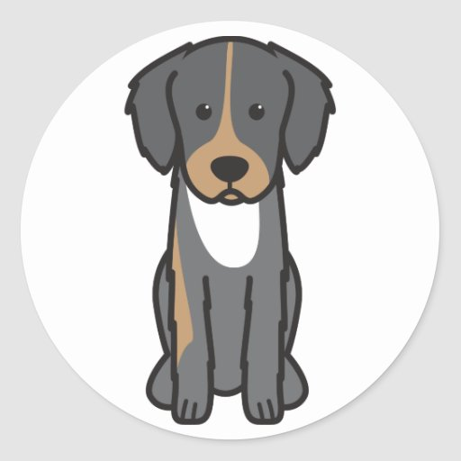 English Shepherd Dog Cartoon Sticker