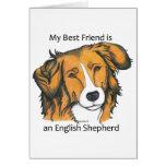 English Shepherd gifts - sable Greeting Card