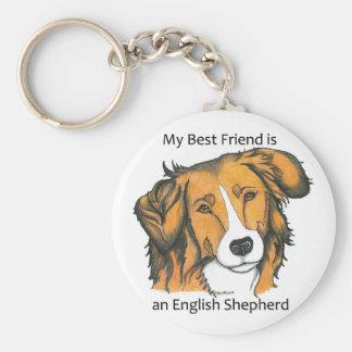 English Shepherd keychain