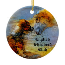 English Shepherd Ornament (one sided)