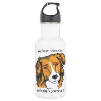 English Shepherd - sable Water Bottle