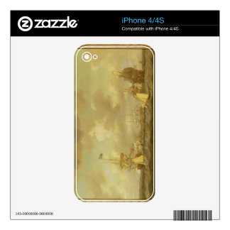 English Ships Coming to Anchor in a Fresh Breeze ( iPhone 4S Decals
