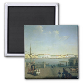 English Shore Street in St Petersburg, 1790s 2 Inch Square Magnet
