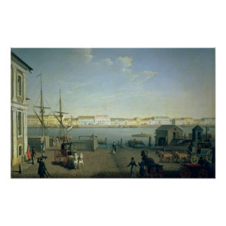 English Shore Street in St Petersburg, 1790s Poster