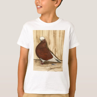 English Shortfaced Bald Pigeon T-Shirt