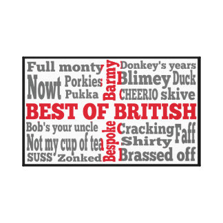 English slang on the flag of Great Briton Gallery Wrapped Canvas
